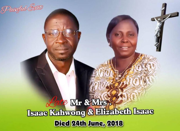 Grieving daughter shares graphic photos of his parents who were killed by Fulani herdsmen in Plateau (photos)