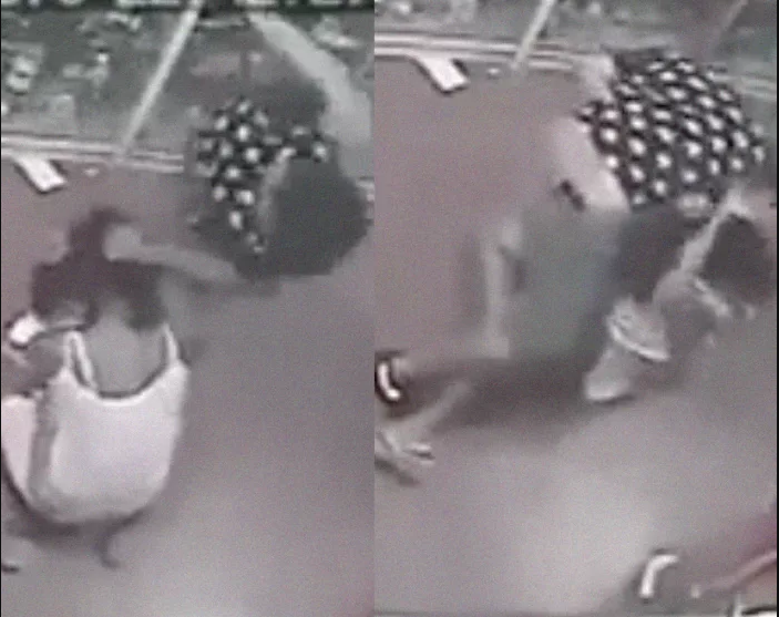 Man beats his babymama and forcefully takes their baby away from her (Disturbing video)