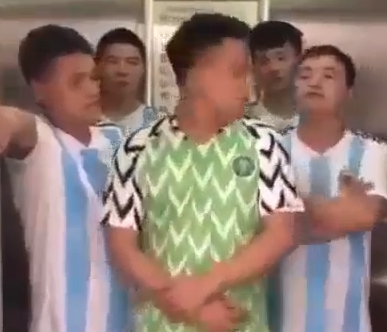 Hilarious video of Chinese men mocking Super Eagles after their defeat by Argentina team(video)