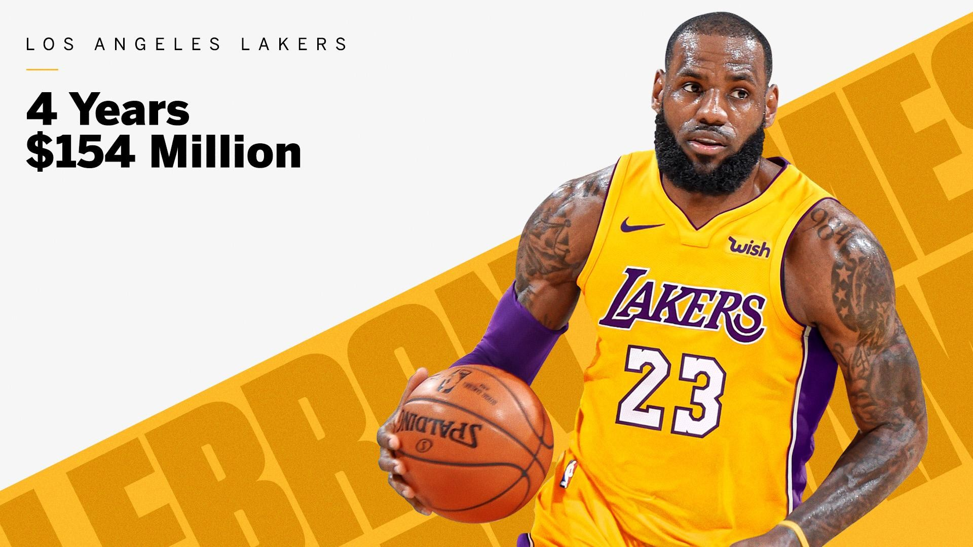 66b83067c1a0 NBA star LeBron James has agreed to join Los Angeles Lakers on a four-year  contract for  154million  from Cleveland Cavaliers.