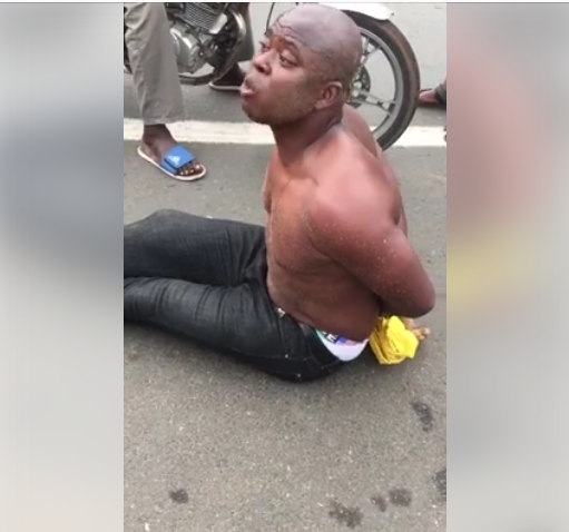Nigerian man allegedly goes mad on a beach in Togo and confesses to engaging in rituals (video)