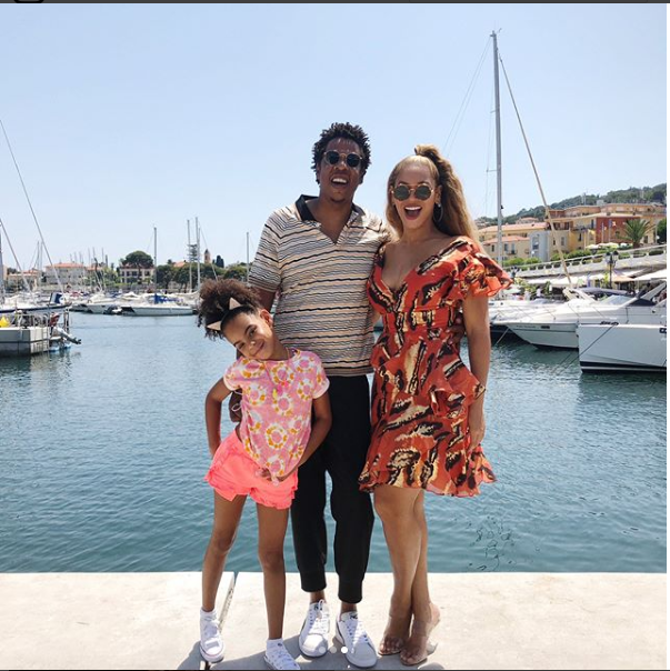 Adorable family photos of Beyonce and Jay-Z as they holiday with their daughter Blue Ivy?