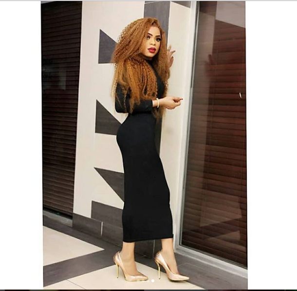 Bobrisky flaunts his eye-popping figure in black body-hugging dress (Photos)