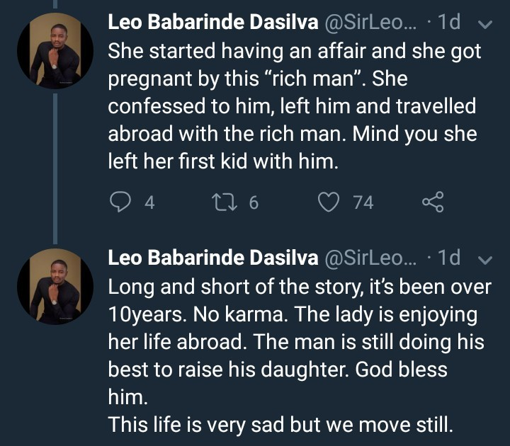 BBN Leo Dasilva narrates story of a man who helped his wife through school only for her to abandon him for a richer guy