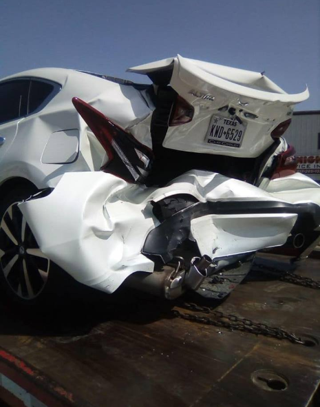 Boy Alinco escapes unhurt after getting involved in a ghastly accident in Texas, U.S. (photos)