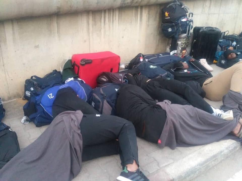 Zimbabwe national rugby team forced to sleep on the street in Tunisia ahead of world cup qualifier (Photos)