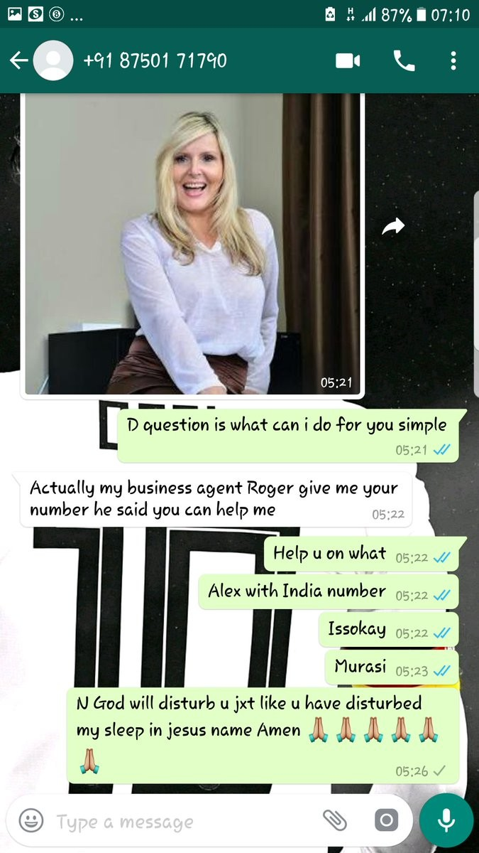 WhatsApp Chat Message Between A Nigerian Woman And A Nigerian