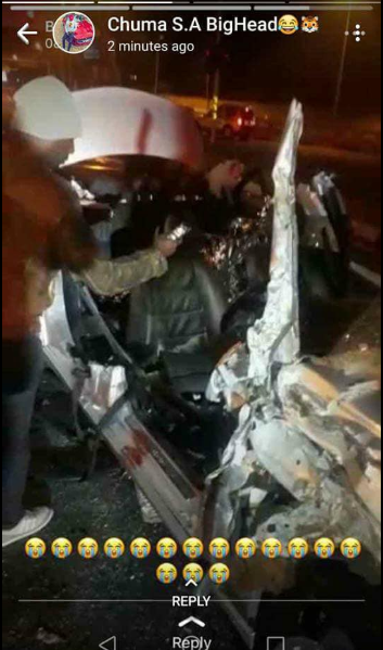 Two Nigerians dead and two injured in road accident while returning from a nightclub in South Africa (photos/video)