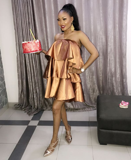 Oyinbo Wives of Lagos star, Linda, shares beatiful photos with her kids at her birthday celebration