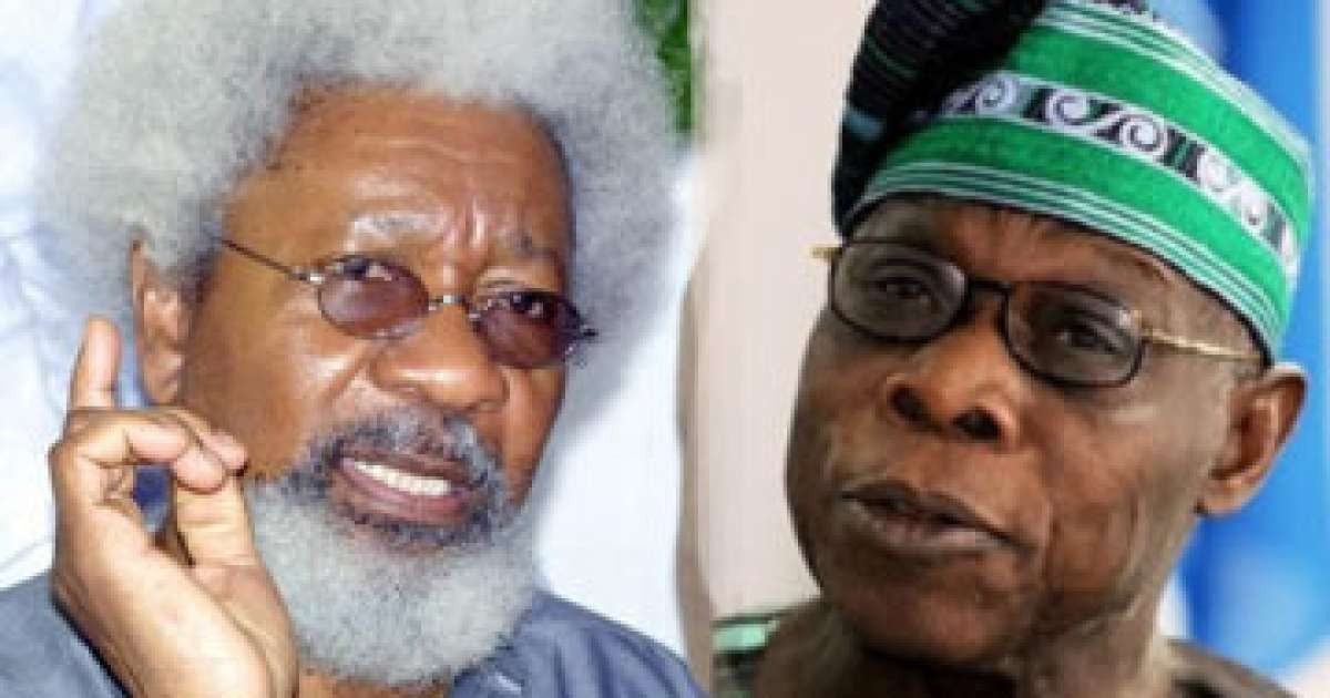 """Generations will look at Obasanjo?library and say this is the house that fraud built? - Wole Soyinka attacks Obasanjo in new book"