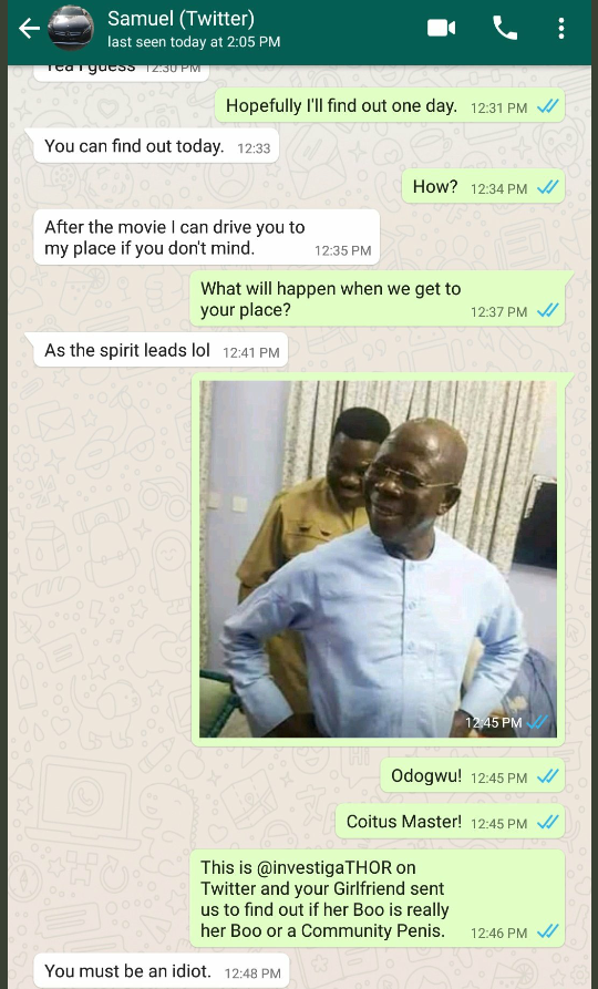 Nigerian woman investigates her boyfriend to see if he