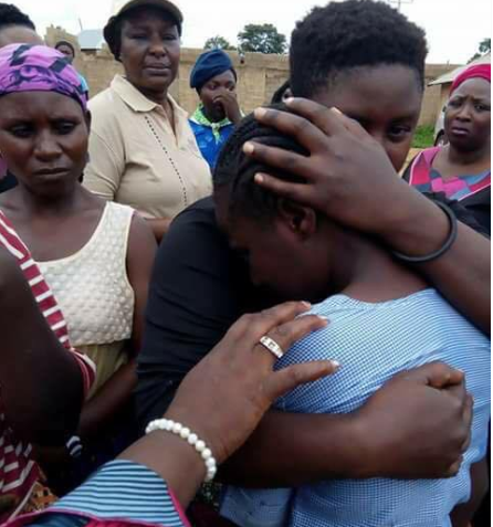 Schoolgirl in tears after returning from boarding school to discover her dad had been killed and their house razed during the Plateau killings (photos)