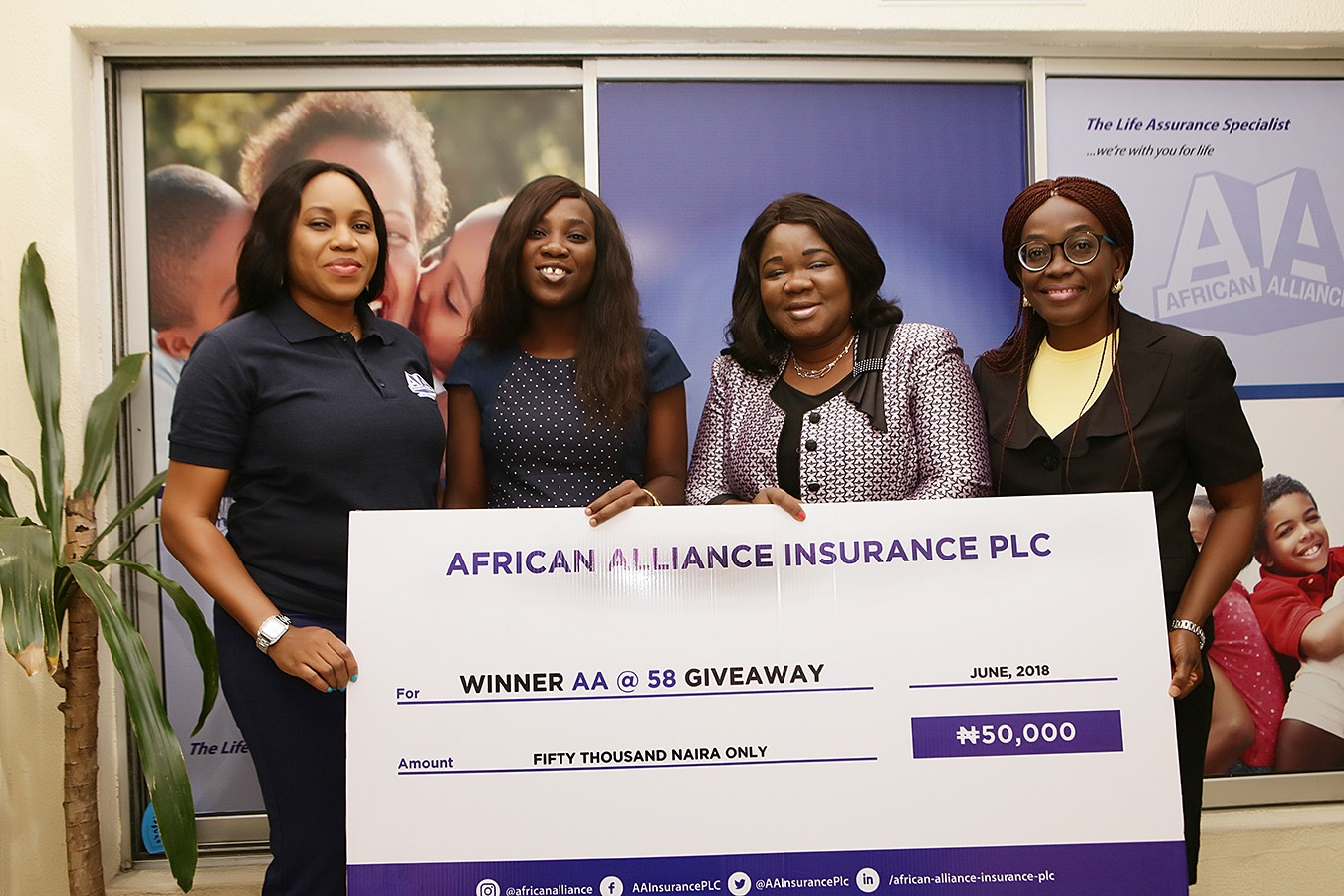 Entrepreneur wins big, as foremost life insurance company, African Alliance Insurance, marks ...