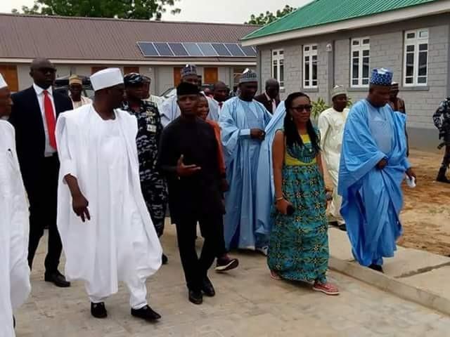Photos: Osinbajo, Governor Shettima visit children orphaned by Boko Haram sect