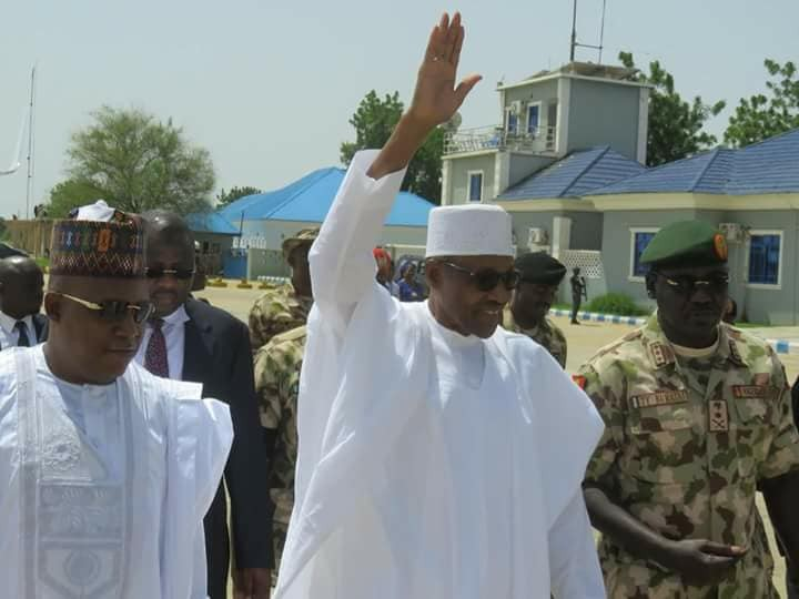 Photos: President Buhari visits Borno state for Army Day celebration