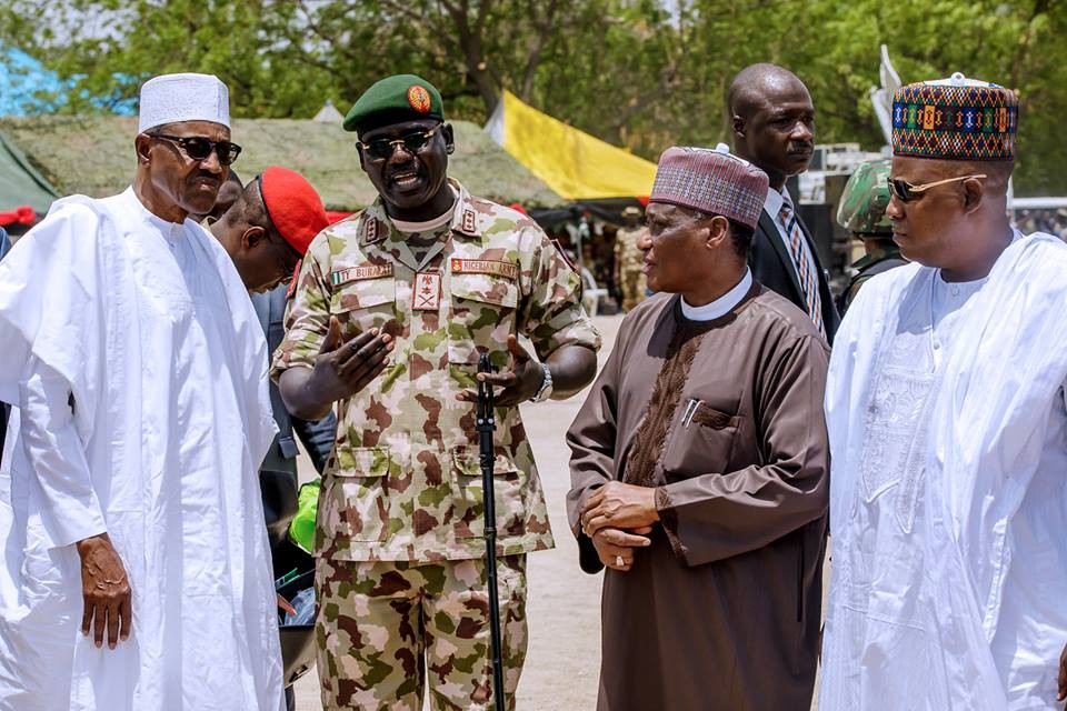 Photos:?President Buhari attends?the grand finale of the 2018 Nigerian Army Day Celebration in Borno State