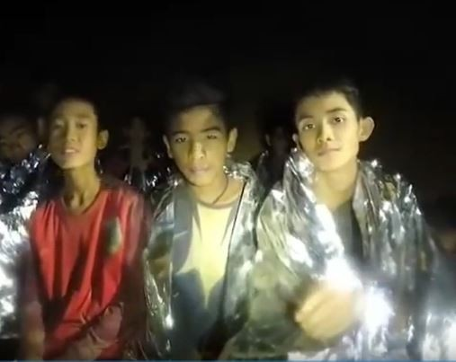 Breaking:?First two members of the Thai soccer team have been rescued from the cave?