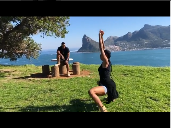 Watch Ciara do the #InMyFeelingsChallenge with her husband Russell Wilson as her backup dancer