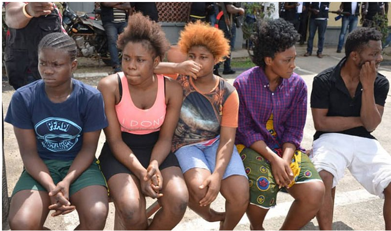 Lovers traffic young ladies to Lagos for prostitution, force them to sleep with seven to ten men daily(photos)
