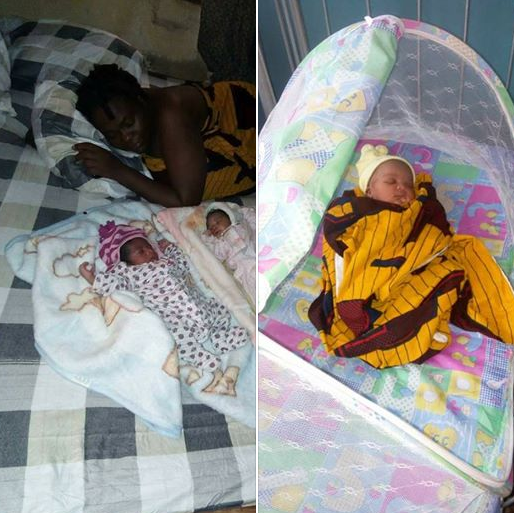 Nigerian woman welcomes son three months after welcoming twins (photos)