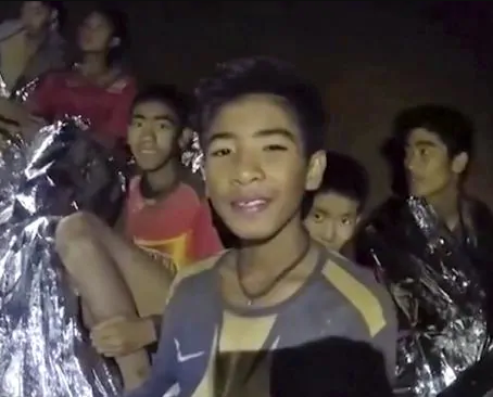 All 12 Thai boys and their coach saved from flooded cave after days of being trapped