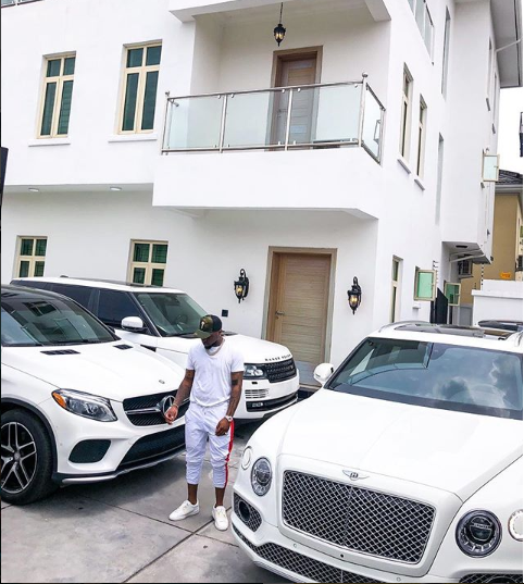 Davido shows off his expensive cars as he adds a brand new 2018 Bentley Bentyaga to his garage (Photo)