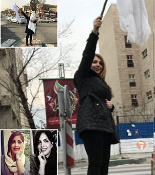 "Iranian woman ""sentenced to 20 years in prison"" for removing her headscarf in protest"