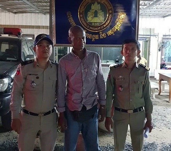 45-year-old unemployed Nigerian man detained in Cambodia for public disturbance