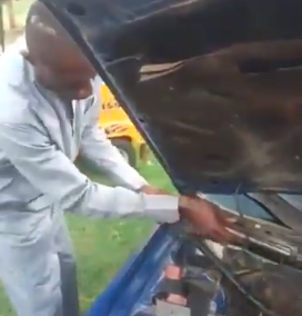 Video: Armed Robbers and Kidnappers now hide weapons inside car engine compartment