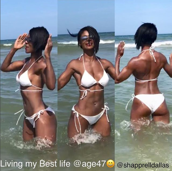 47-year-old fitness coach shares photo of herself at 24 and at 47 to show she hasn