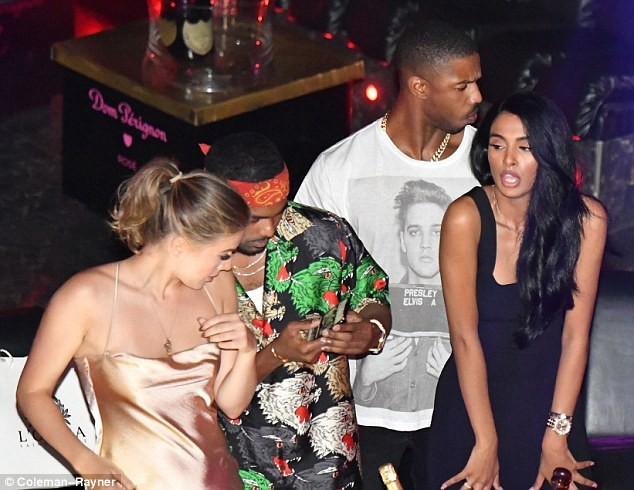 club, Black Panther star Michael B. Jordan parties with rumored girlfriend Ashlyn Castro at St Tropez club (Photos)