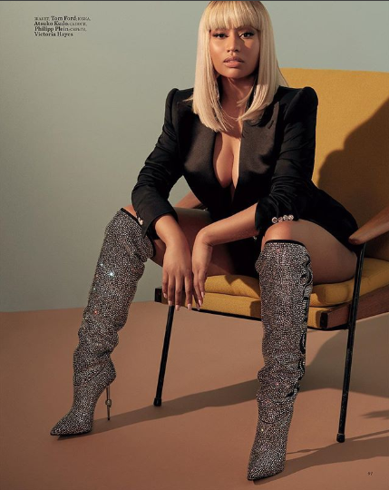 Nicki Minaj covers the August issue of Harper?s Bazaar Russia
