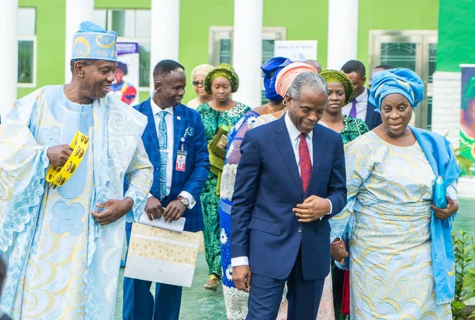 Photos: VP Yemi Osinbajo and wife attend 70th birthday thanksgiving service of RCCG GO