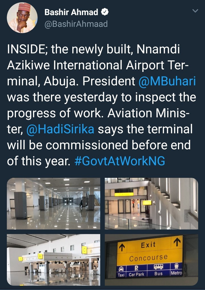 Photos of newly built terminal at the Nnamdi Azikiwe airport set to be commissioned by president Buhari this year