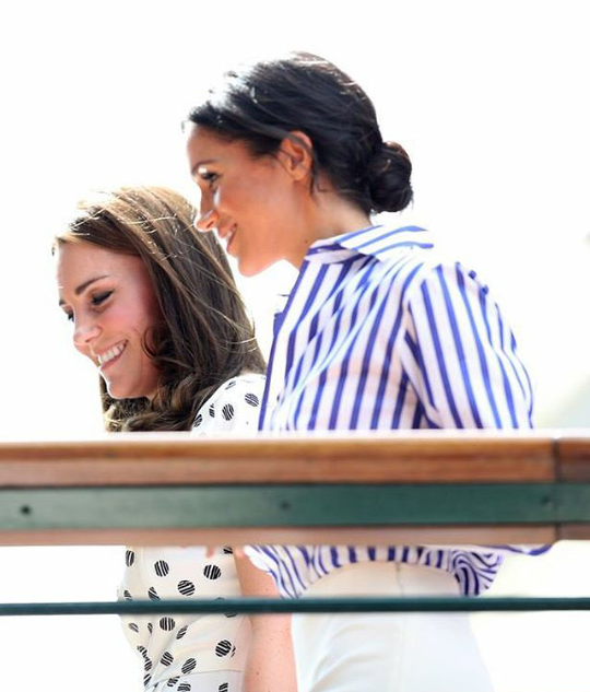 Kate Middleton and Meghan Markle at Wimbledon for the Ladies