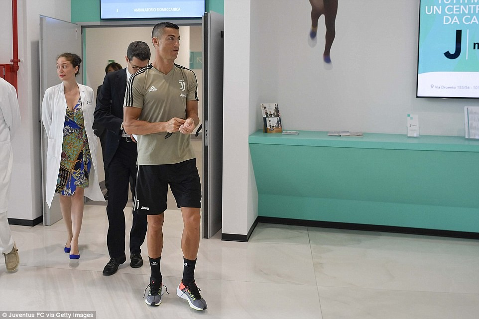 Photos of Cristiano Ronaldo as he undergoes his medical ahead of ?100m move to Juventus?