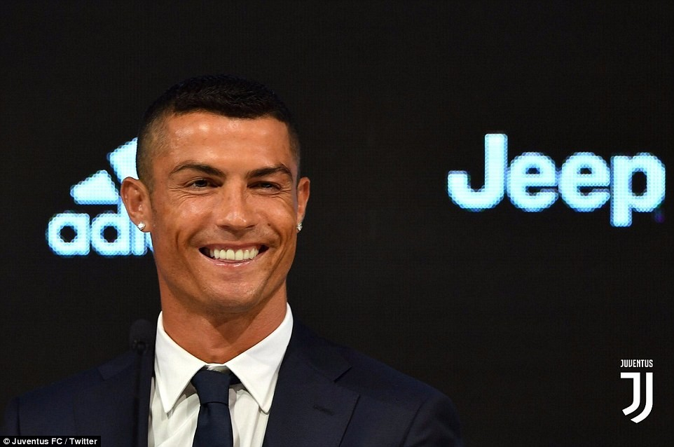 Cristiano Ronaldo officially unveiled as a Juventus player after sealing ?100m move from Real Madrid (Photos)