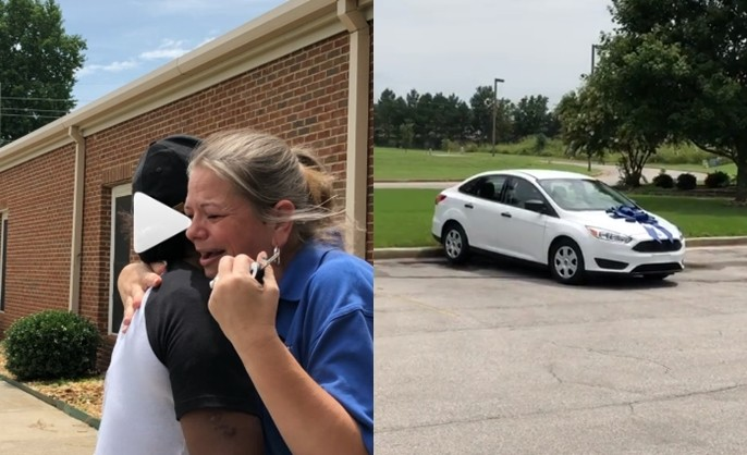 Black couple buy a brand new car for their daughters