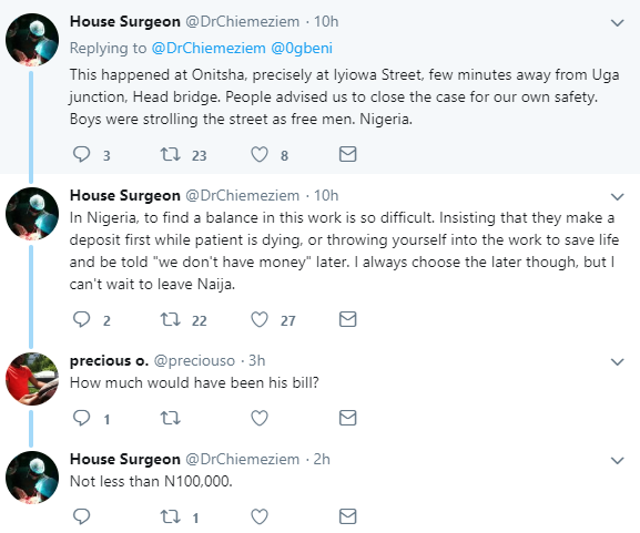 These tweets explain why hospitals insist on payment before treatment