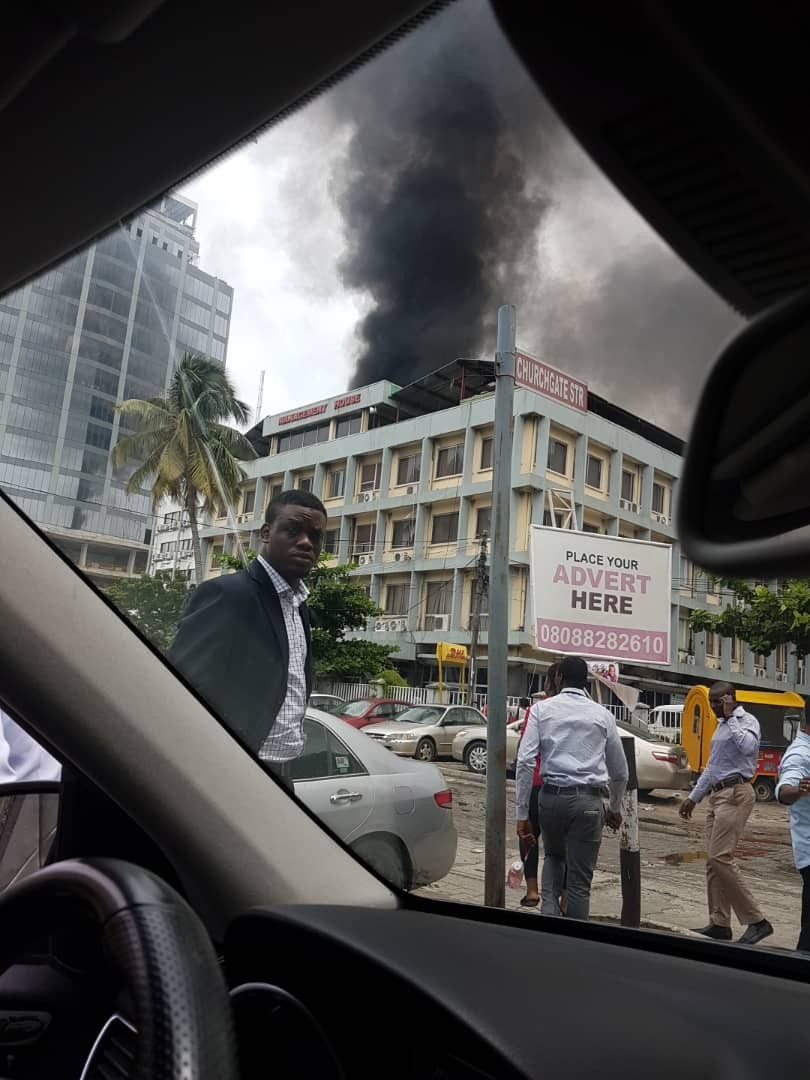 UBA office in Victora Island is on fire! (photos/video)