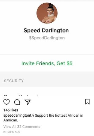 Speed Darlington asks for financial support online after he was filmed driving a cab, but see whose picture he used to create the account