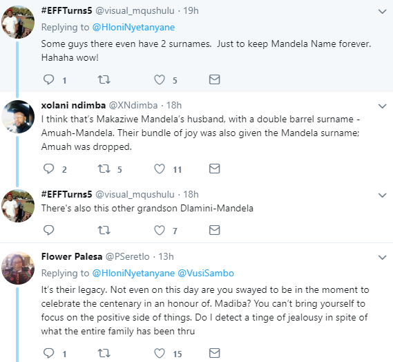 If Mandela were your father or grandfather would you change your name after marrage? - Trending debate on Twitter