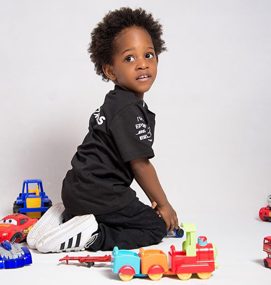 Maje Ayida celebrates his second son with Anita Solomon as he turns 3 today