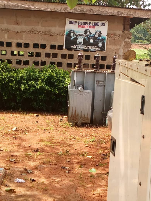Hilarious posters warning against urinating in public spotted in Anambra State University