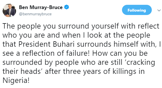 President Buhari surrounds himself with failures- Ben Bruce