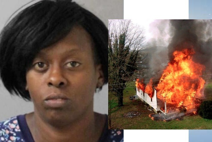 Woman sets house on fire because she was not invited to a party?