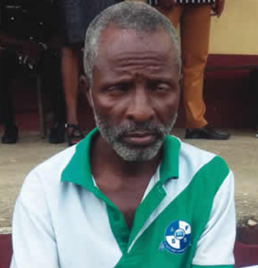 Photo: 52-year-old married father of four arrested for defiling 12-year-old girl, blames spiritual forces