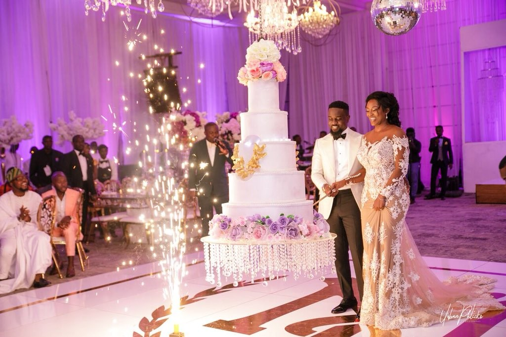 Official photos from the white wedding of rapper Sarkodie and his partner of 10-years Tracy?