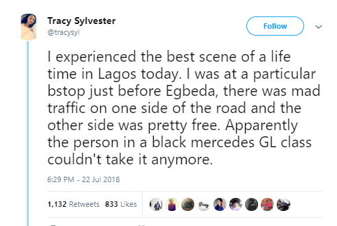Nigerian lady narrates how she witnessed soldiers discipline a white man using police escorts to illegally clear traffic
