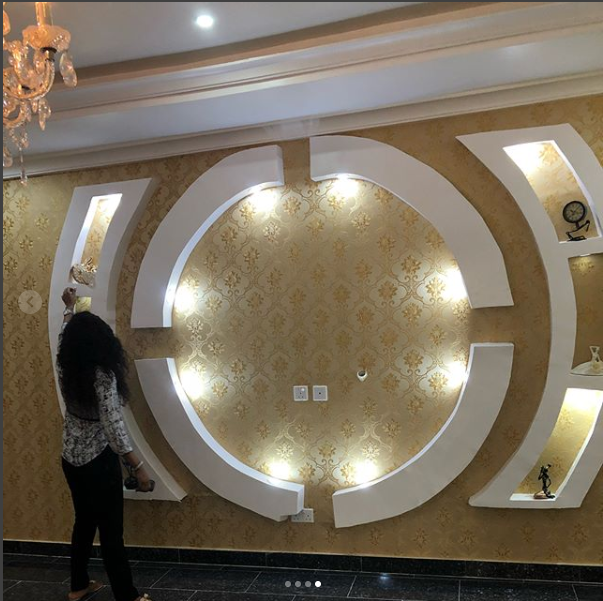 Actress Mercy Aigbe shows off the stunning interior decor of her new house (photos)
